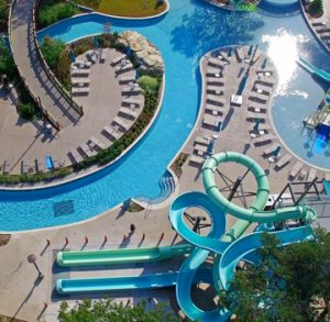Hilton Anatole Jade Waterpark Decorative Concrete Sandscape Refined Imprinted Concrete Pool Deck