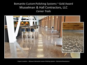 Musselman and Hall provided Cerner Innovations Campus with an integral color polished Concrete Bomanite Renaissance floor