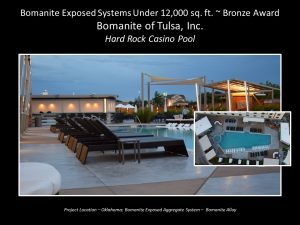 Bomanite of Tulsa created a game winning pool deck at the Hard Rock Casino with Bomanite Exposed Alloy decorative concrete