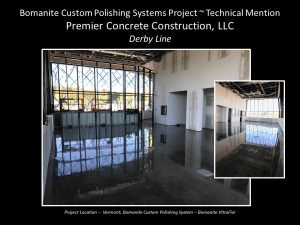Premier Concrete Construction created a high gloss reflection for the Derby Line