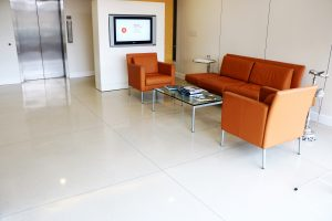 MMGY Global Marketing Firm installs Bomanite Polished Concrete Modena SL System for Interior flooring Office Space