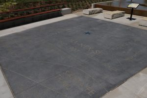 Lenexa Civic Center outdoor spaces were designed with Bomanite Alloy to add a sparkle to the history node