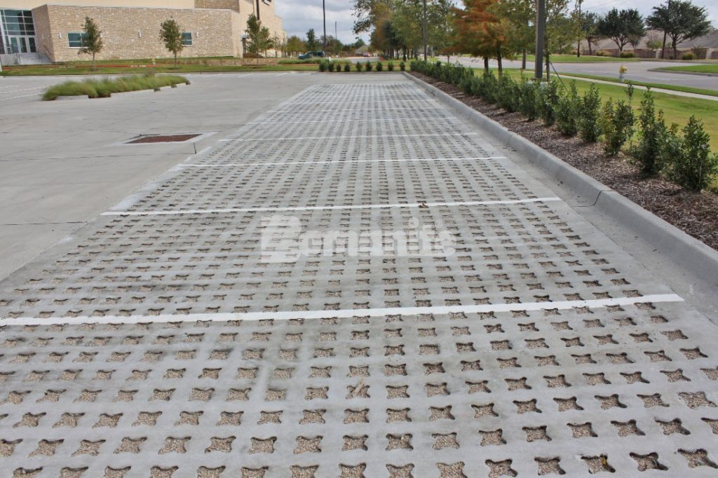 Hope Fellowship Installs Pervious Parking Lot with Bomanite Grasscrete Stone Filled System to Help with Stormwater Management