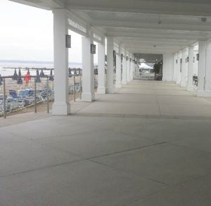 The Westchester Country Club Beach Club chose to install a platinum product from the Bomanite Exposed Aggregate System using Bomanite Revealed in two colors with stone and glass aggregates created durable walkways for the outdoor application installed by Beyond Concrete out of Keyport, NJ